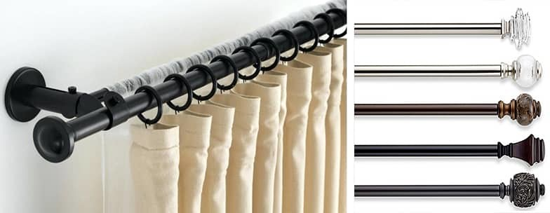 how to install curtain rods for your