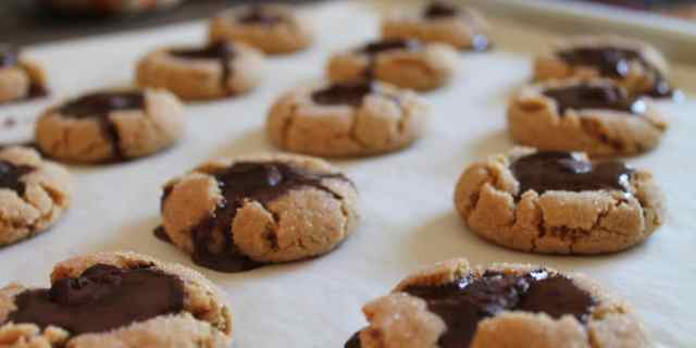 Peanut Butter Thumbprint Cookies w/ Chocolate Truffles