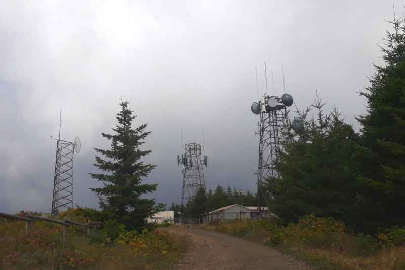 radio towers from an old military station up on Mount Hebo