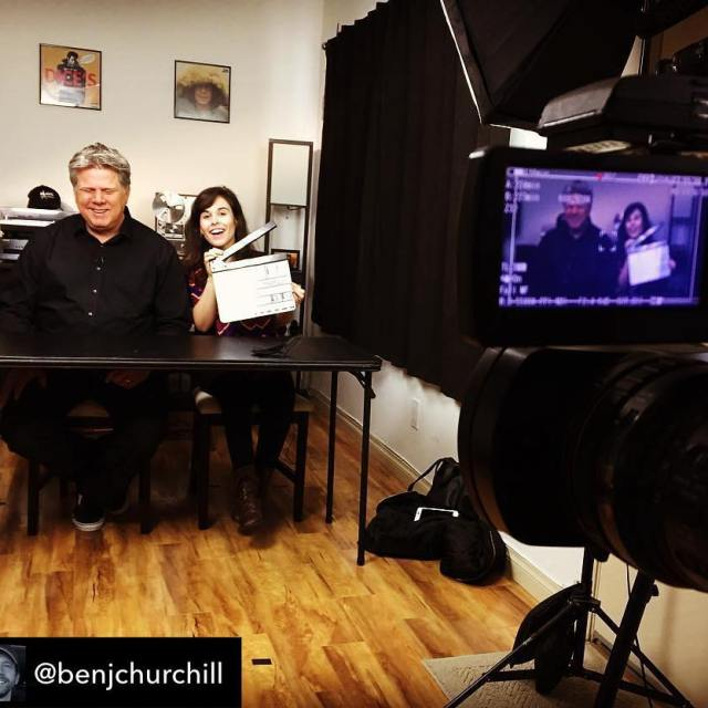Repost from benjchurchill  Behindthescenes of todays blindfilmcritic video withhellip