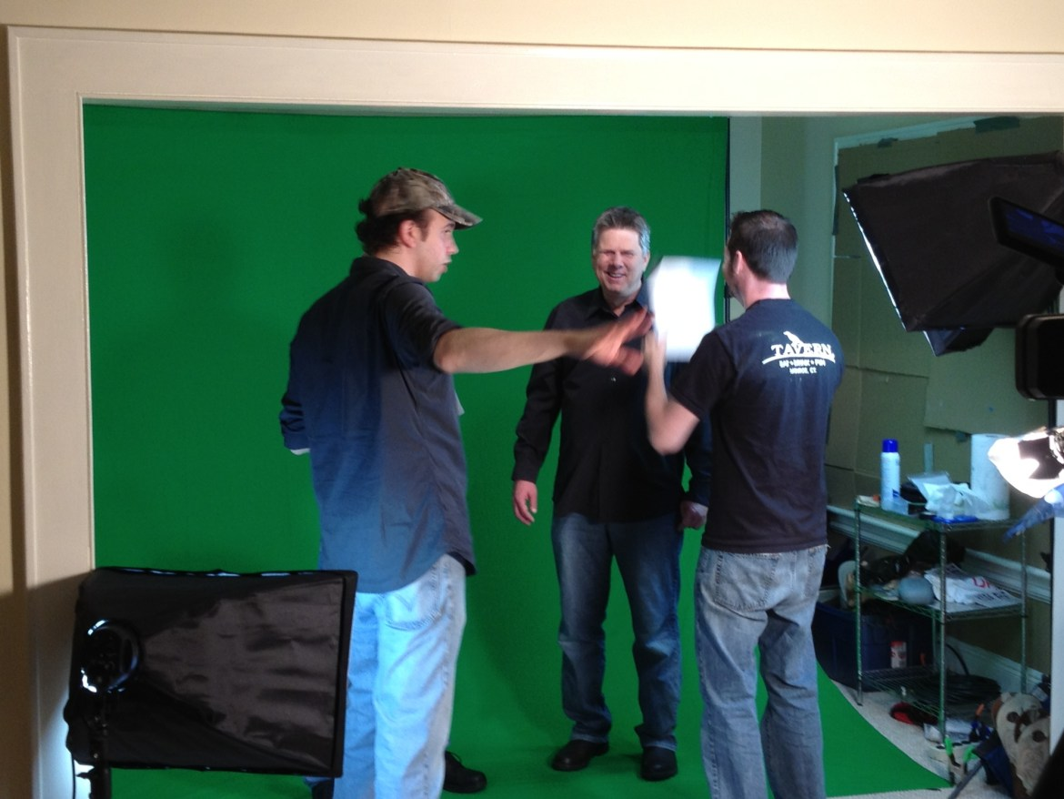 May 14, 2012 - Ben Churchill directs Tommy Edison with Max Schlicher