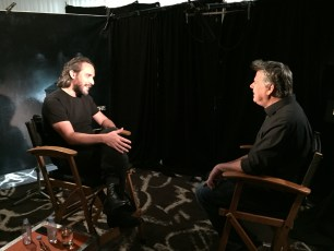 "Aug. 14, 2016 - Tommy Edison interviews director Fede Alvarez at the ""Don't Breathe"" press junket"