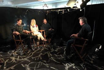 "Aug. 14, 2016 - Tommy Edison interviews actors Dylan Minnette, Jane Levy, and Daniel Zovatto at the ""Don't Breathe"" press junket"