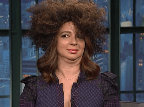 "Maya Rudolph impersonating Rachel Dolezal on ""Late Night With Seth Meyers"""