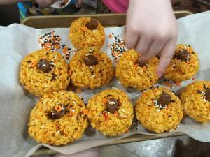 pumpkin rice krispies