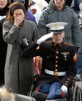 Disabled Marine
