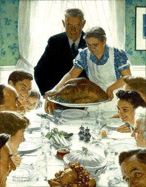 "Norman Rockwell's ""Thanksgiving Dinner"""