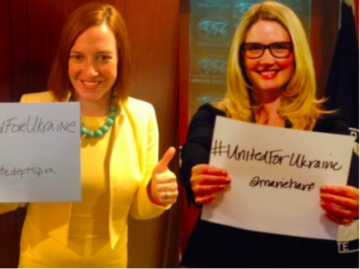 Hashtag Princesses Jen Psaki and Marie Harf, the official spokespersons for the U.S. Department of State