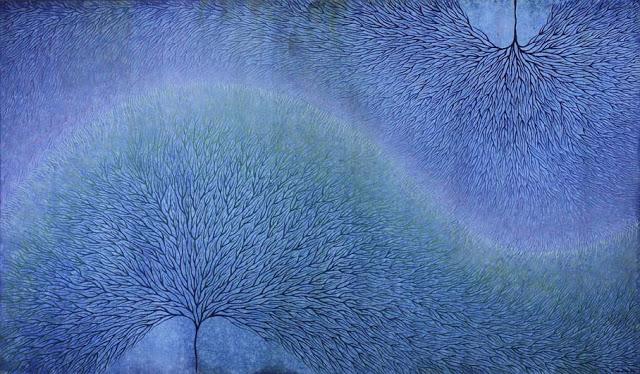 Image: Frisson, oil on linen 85 x 147 cm by Kathryn Brimblecombe-Fox