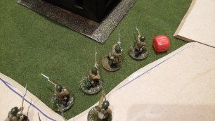 36 - Rifles down on road at end of game