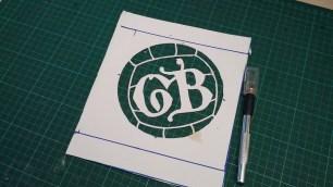 10 - GB logo stencil