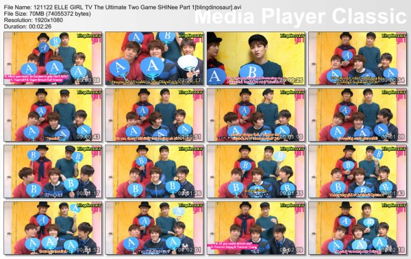 121122 ELLE GIRL TV The Ultimate Two Game SHINee ...