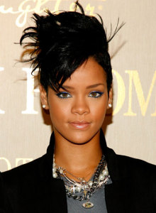 Rihanna's Eyes Look Even More Amazing with Electric Blue Eyeliner