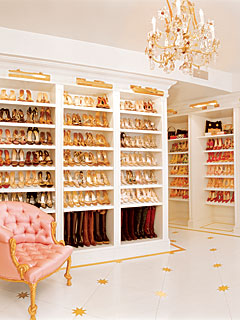 Mariah Carey's shoe closet, part 1