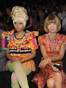 nicki minaj nyfw anna wintour spring 2012 carolina herrera blinging beauty