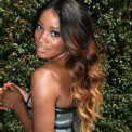 keke palmer blond tips hair