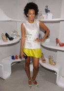 Solange at Stuart Weitzman shopping event