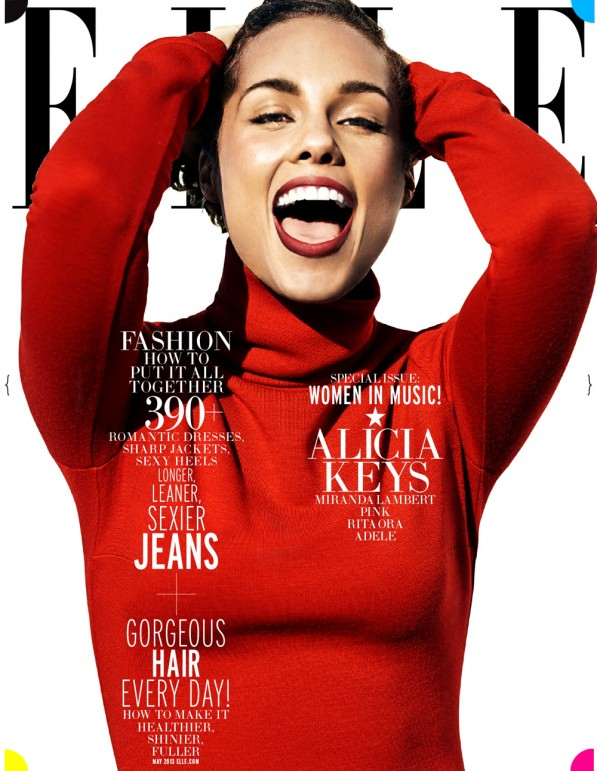 alicia keys elle may 2013 cover