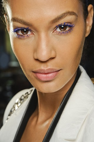 joan smalls blue mascara