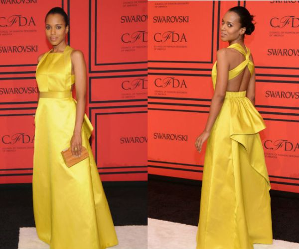Kerry Washington CFDA 2013 Awards jason Wu Gown