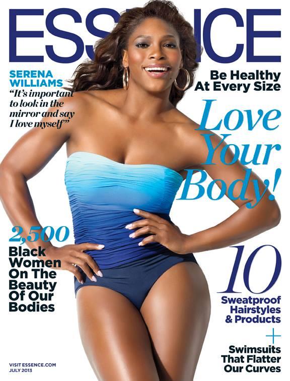 Serena Williams July 2013 essence cover body edition