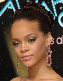 Rihanna Braided updo