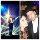 Redken Artist Keri Bailes and Justin Timberlake backstage at the 2013 MTV VMAs
