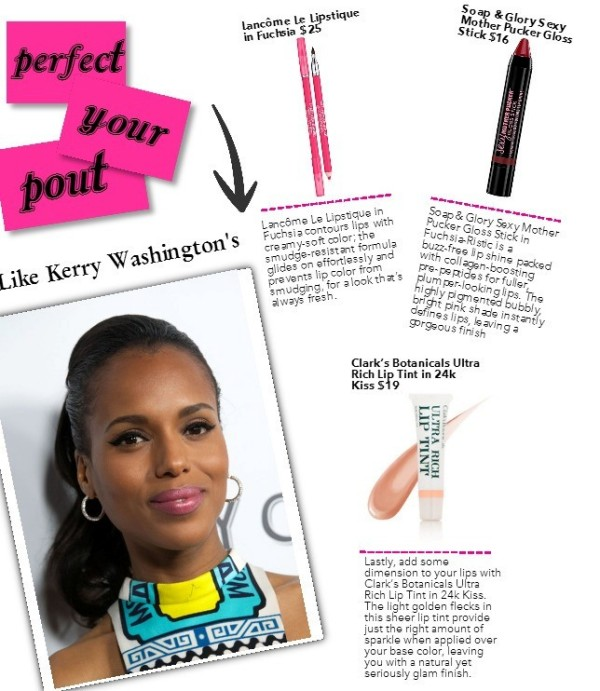 get the look kerry washington perfect pink pout