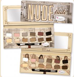 nude'tude the balm eyeshadow palette