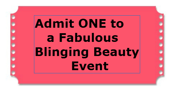 blinging beauty admit one event ticket