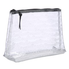Pattern LA Large Clear logo cosmetics bag