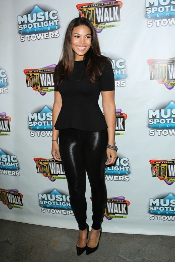 Jordin Sparks at xJordin Sparks the Universal CityWalk Free Spring Concert Series Getty Images