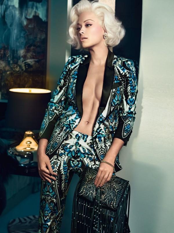 Rita Ora Roberto Cavalli fall winter 2014 2015