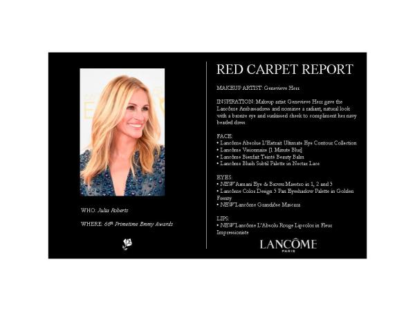 Julia Roberts Red Carpet Report