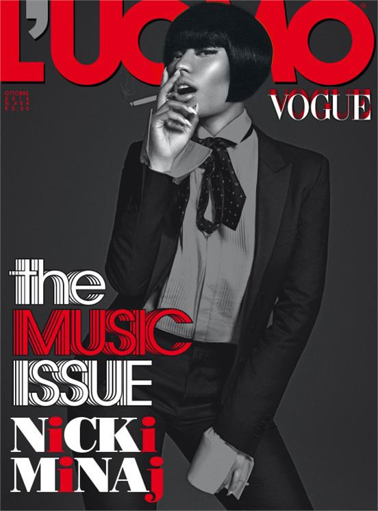 "Nicki Minaj L""Uomo Vogue Music Issue October 2014"