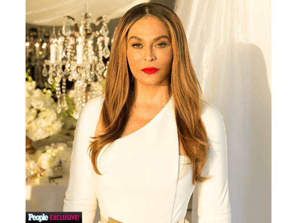 tina knowles wedding portrait