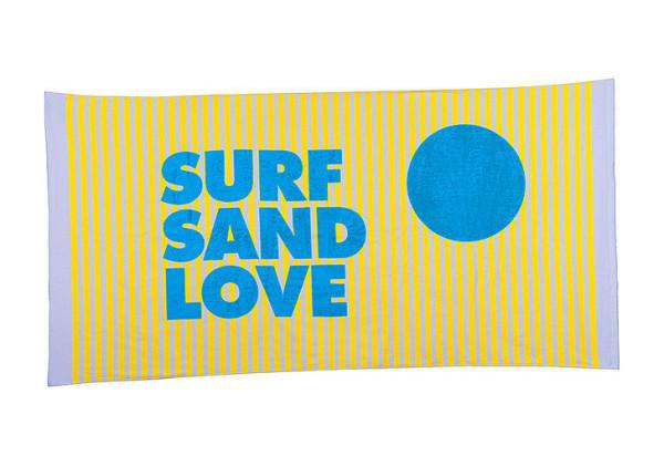 Sisters of Los Angeles Surf Sand Love Beach Towel
