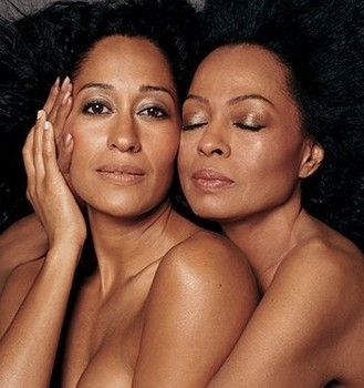 diana ross tracee ellis ross glowing skin