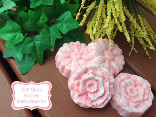 DIY Shea Butter Flower Bath Bombs