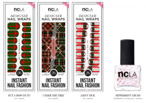 NCLA Holiday Nail Wraps and Lacquer 2
