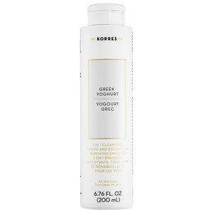 Korres Greek Yoghurt 3 In 1 Cleansing, Toning And Eye Make-Up Removing Emulsion