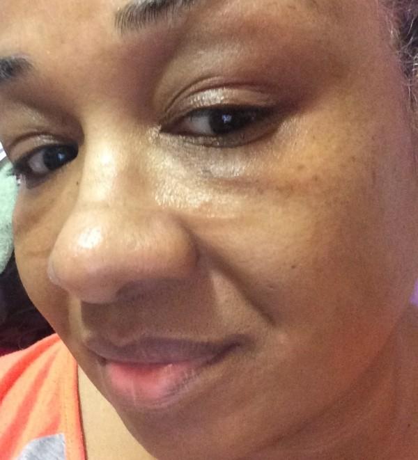 No makeup before Laura Mercier foundation