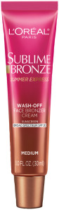 L'Oreal Paris Sublime Bronze Summer Express Face Bronzer Cream SPF 20- Bottle