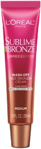 L'Oreal Paris Sublime Bronze Summer Express Face Bronzer Cream SPF 20- Bottle