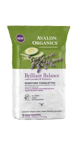 Brilliant Balance towelettes