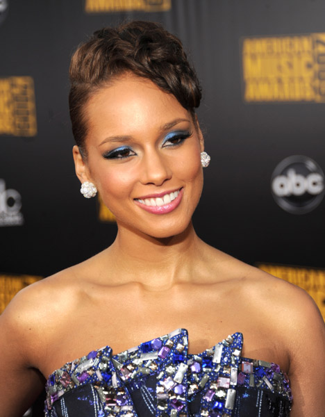 Alicia Keys 2009 AMA's Getty Images