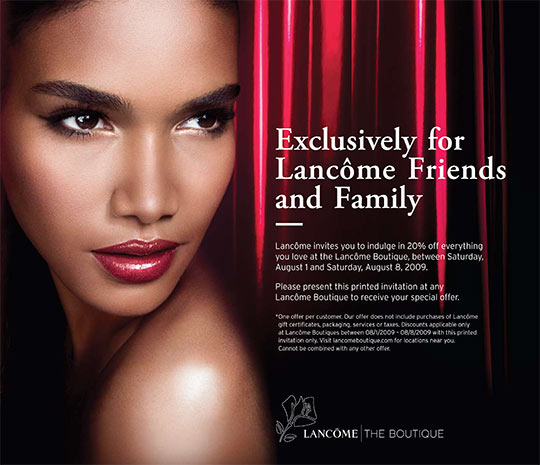 Lancome Friends and Family
