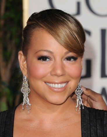 Mariah Carey Golden Globe Awards 1/17/2010 Getty Images