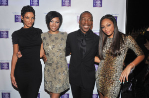 Model Nicole Murphy, Model Bria Murphy, Actor Eddie Murphy and Shayne Murphy attend the Dark and Lovely annoucement of Bria Murphy as the new global brand ambassador at Juliet Supper Club on January 18, 2011 in New York City. Getty Images