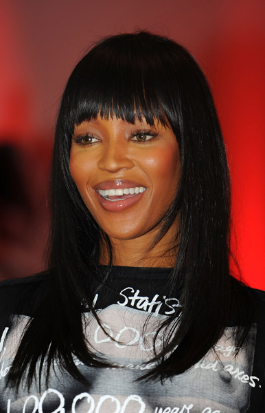 Naomi Campbell at Fashio for Relief 2-26 Getty Images